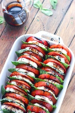What's so great about easy salad recipes? How versatile they can be! This caprese salad is not your traditional greens-packed salad, but it's SO fresh, delicious, and will impress any guests you have over.