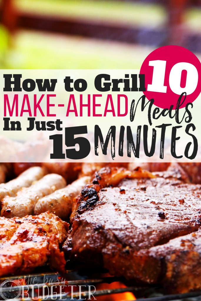 I didn't know that spending just 15 minutes on the grill could result in a TON of make-ahead meals for my family. This is going to be way easier than I thought!