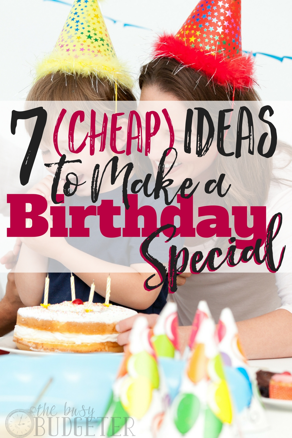 sample budget for birthday party