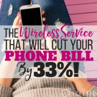 The Wireless Service That Will Cut Your Phone Bill By 33%!