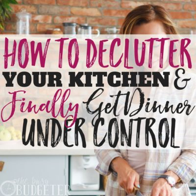 How to Declutter Your Kitchen & Finally Get Weeknight Dinnertime Under Control