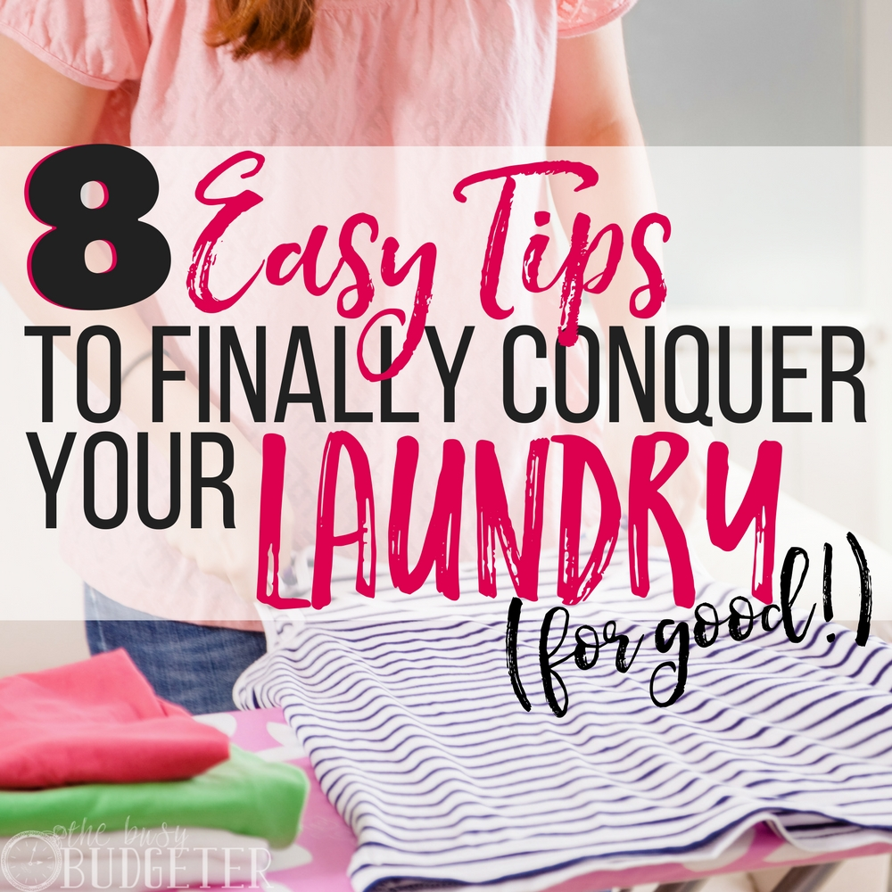 Wow these laundry tips are amazing. I had such a bad habit of letting my laundry pile up but now I'm organized and actually staying on top of it!