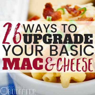 My son LOVES Mac and cheese but I was getting really stick of the same old recipe. So I got creative and used these recipes to upgrade our Mac and cheese! Not only are they easy to make and budget friendly but they are also kid approved! The whole family always asks for seconds (even my husband!)
