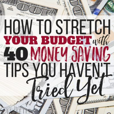 These tips not only help us stretch our budget every month but it also sets us up for saving money and having money left over to throw in our savings account every single week! I get so overwhelmed with budgeting but these money saving tips are easy to implement and easy to stick to-- win win!! If you're trying to stretch your budget, I can't recommend trying these tips enough!