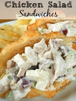 Looking for easy recipes for dinner? This chicken salad recipe is a great way to use store-bought rotisserie chicken! So simple and EASY to make!
