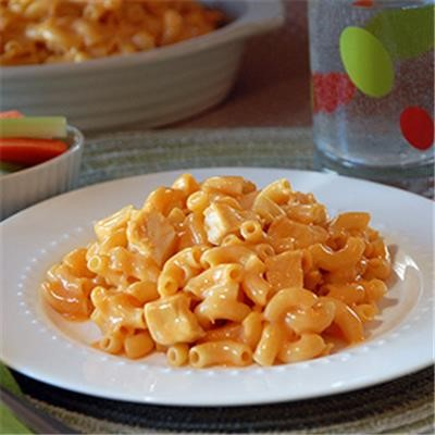Buffalo chicken mac and cheese is the perfect upgrade to a basic mac and cheese recipe and it can be done so easily. I'm excited to try this and see if my family likes it! Great suggestion!
