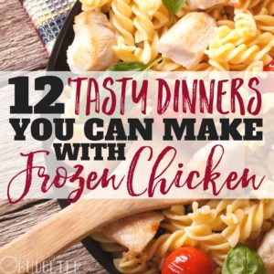 Ok I'll just say it-- frozen chicken is the best. Balancing two kids, a husband, work, and life in general- I need quick and easy dinner solutions. These tasty frozen chicken dinner recipes are the staples in our house- our kids always want seconds!!