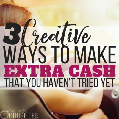 These unique ways to make extra cash are awesome! I can't believe that I never thought to try these before. The second one has literally been a game changer for our finances. Not only are we saving money but we are paying off debt like crazy!!