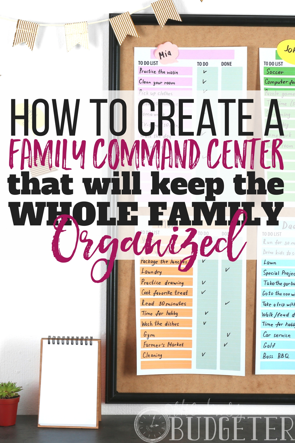 Do you have a family command center? No, I'm actually serious! I thought it was silly at first but oh my goodness-- total game changer. I'm a busy mom and this totally helps me stay organized and on time! I can't live without it now!