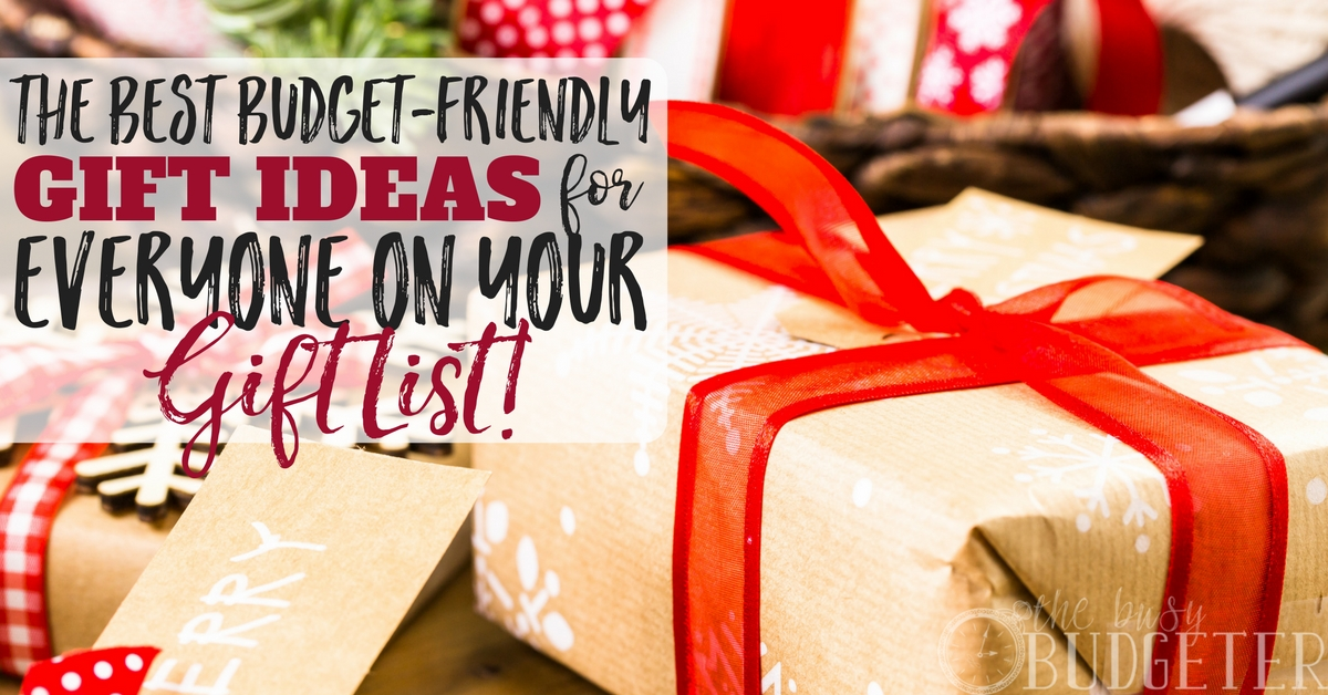The Best Budget-Friendly Gift Ideas for Your Holiday List! | Busy ...