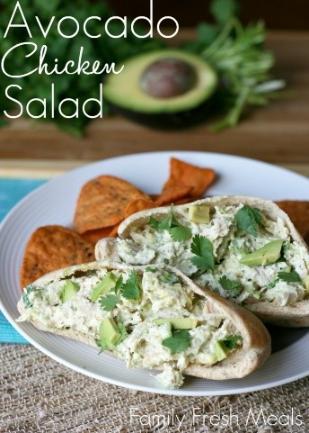 Using frozen pre-cooked chicken for this avocado chicken salad made this recipe SO easy and fast to make. Love avocados and chicken.