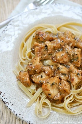 I LOVE teriyaki chicken! And pasta too? Such a good combination! I used Tyson teriyaki frozen pre-grilled chicken in this recipe and it bumped up the flavor and made it so much easier to toss together.