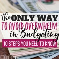 10 Steps to Build Your Budget: The Only Way to Avoid the Overwhelm in Budgeting
