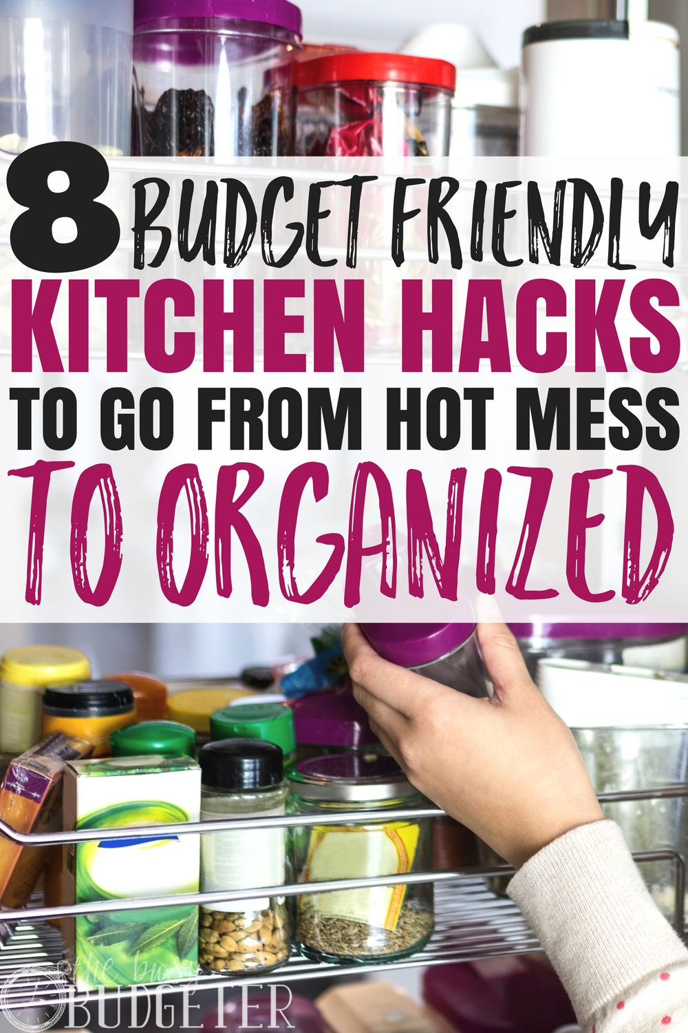 Before these kitchen organization hacks I would literally get anxiety walking into my hot mess of a kitchen. These easy kitchen hacks not only save money but also save a ton of TIME and helps me cook meal faster!!