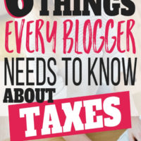 Six Things Every Blogger Should Know About Taxes…