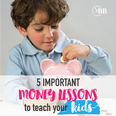 5 Important Money Lessons to teach your kids. Right on target! I've been struggling to figure out how to get started with my kids, these are some GREAT ideas!