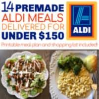 Easiest Aldi Meal Plan: 14 Premade meals for under $150 delivered