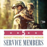 5 Budget-Friendly Ways To Honor Service Members.