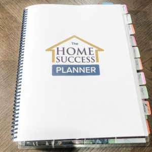Weekly printable planner titled home success planner