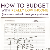 How to Budget Money on a Low Income.
