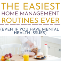 The Easiest Household  Management Routines Ever (Even If You Have Mental Health Issues).