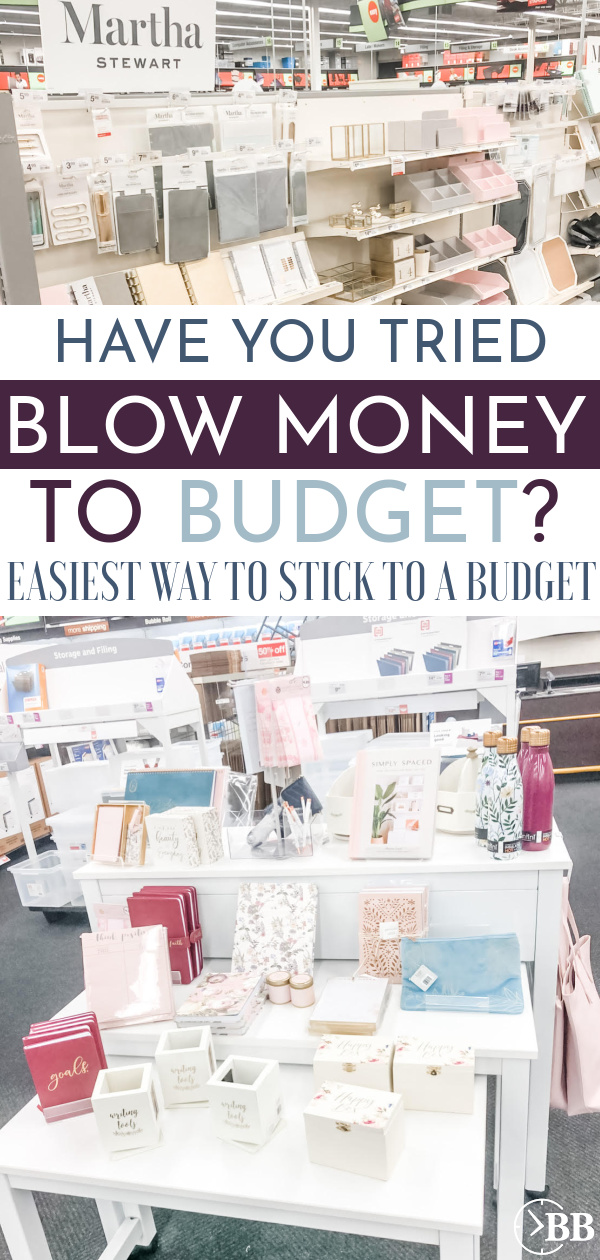 This is brillant! This crazy idea of blow money really works! For the first time ever I came in underbudget in every category.