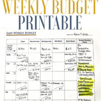 Easiest Weekly Budget Printable