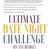 Cheap Date Night Ideas: Free Printable Challenge.