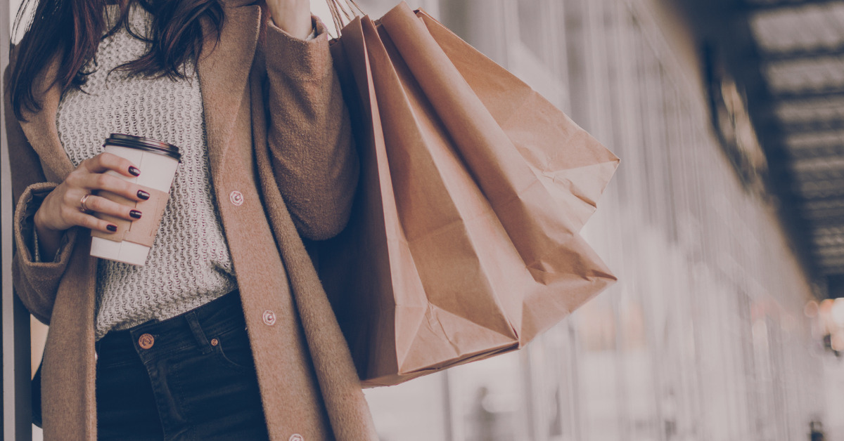 woman shopping, using blow money to incentivize her savings