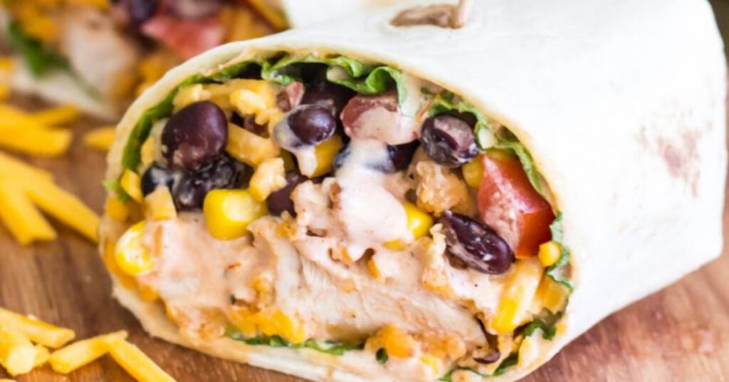 Image of Tex mex chicken wrap picnic meal ideas